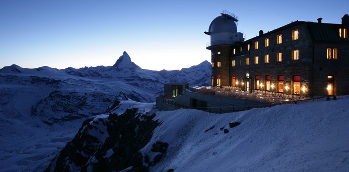 Unique hotel 3100 Kulmhotel Gornergrat, Switzerland