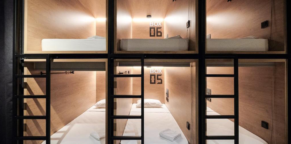 Unique hotel InBox Capsule Hotel, Russia