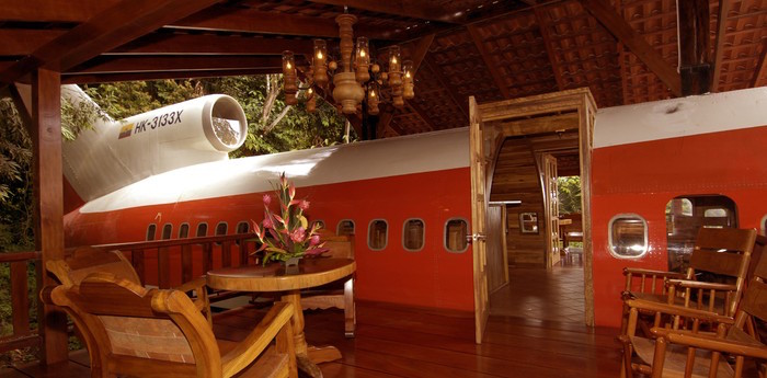 Unique hotel 727 Fuselage Home Luxury Suite Boeing, Costa Rica