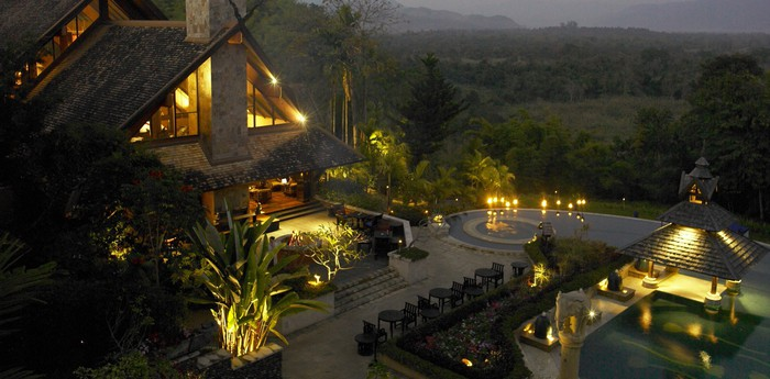 Unique hotel Anantara Golden Triangle, Thailand