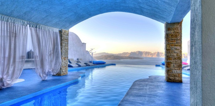 Unique hotel Mykonos Blu, Greece