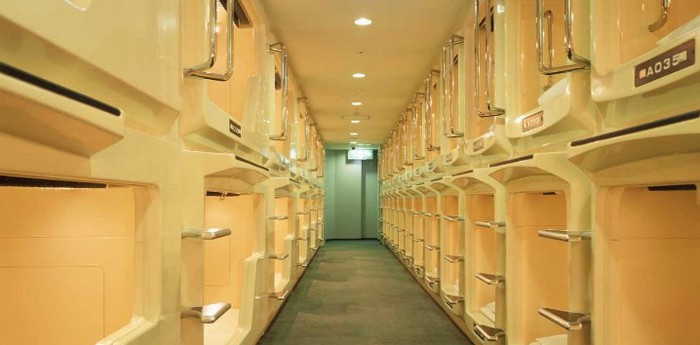 Unique hotel Capsule Hotel Asahi Plaza Shinsaibashi, Japan