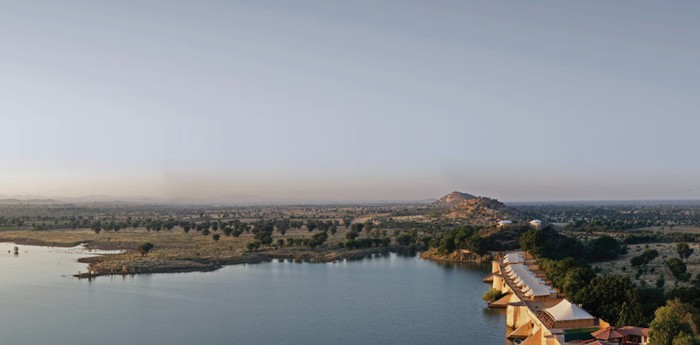 Unique hotel Chhatra Sagar, India