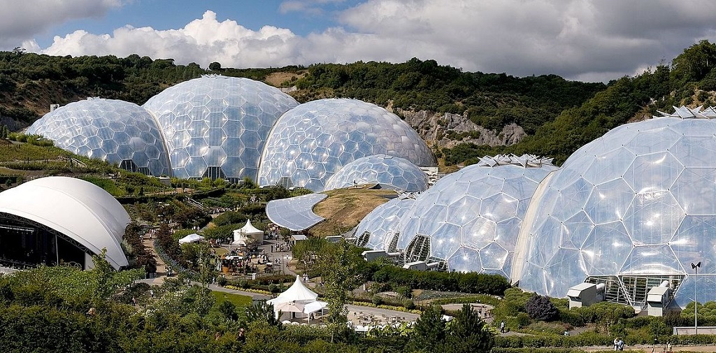 Unique hotel Eden Project, United Kingdom