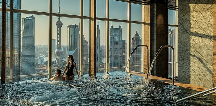 Unique hotel Four Seasons Shanghai Pudong, China