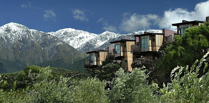 Unique hotel Hapuku Lodge, New Zealand