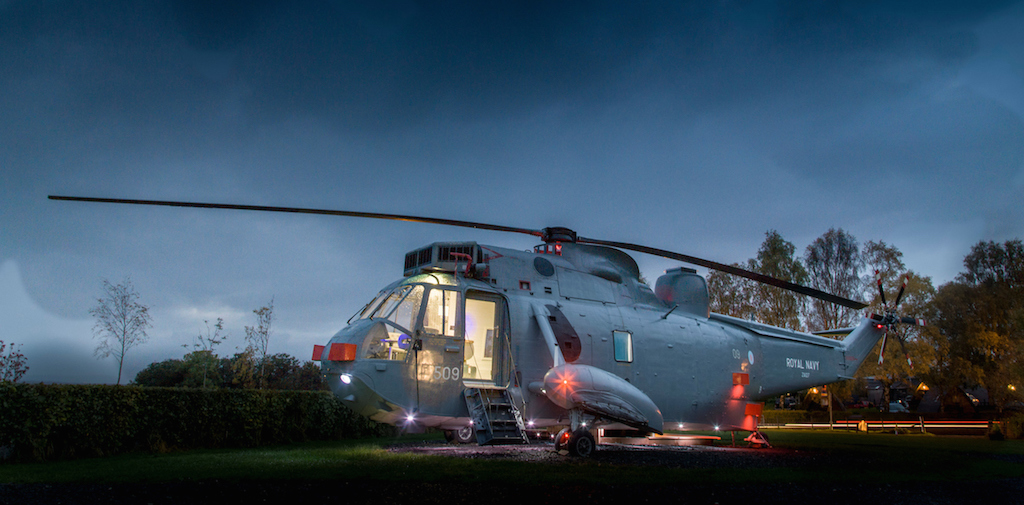 Unique hotel Helicopter Glamping, United Kingdom