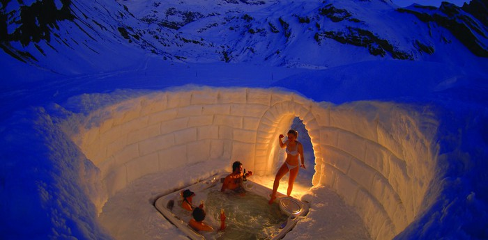 Unique hotel Iglu Dorf, Switzerland