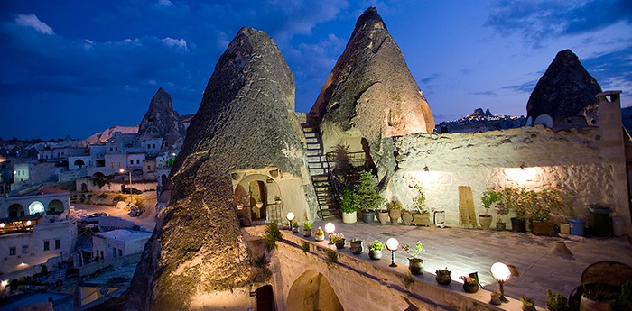 Unique hotel Kelebek Cave Hotel, Turkey