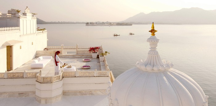 Unique hotel Lake Palace Hotel, India