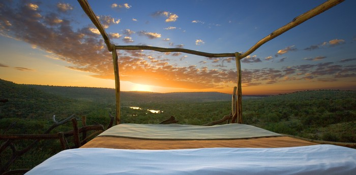 Unique hotel Loisaba Star Beds, Kenya
