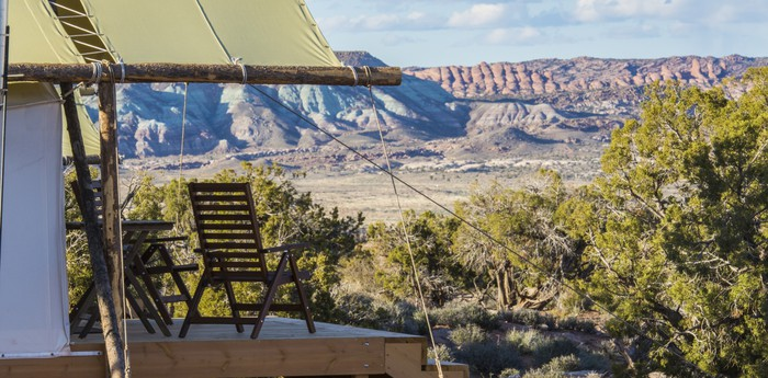 Unique hotel Moab Under Canvas, United States