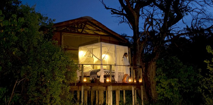 Unique hotel Sanctuary Baines Camp, Botswana