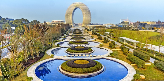 Unique hotel Sheraton Huzhou, China