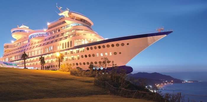 Unique hotel Sun Cruise Resort, South Korea