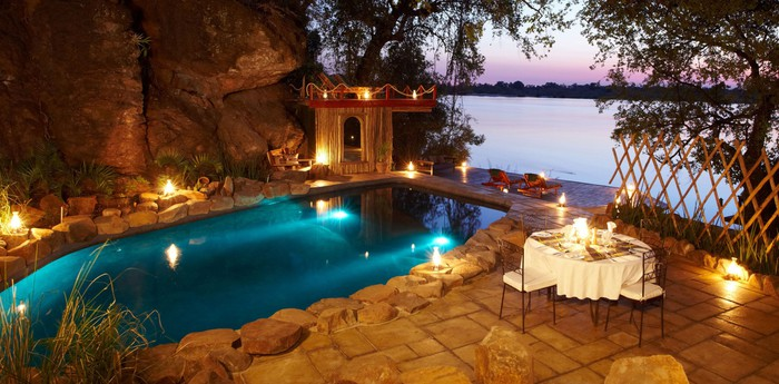 Unique hotel Tongabezi Lodge, Zambia