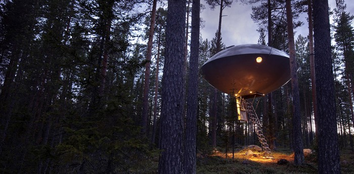 Unique hotel Treehotel, Sweden