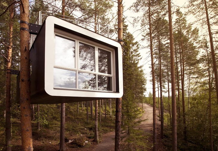 Unique hotel Treehotel1, Sweden